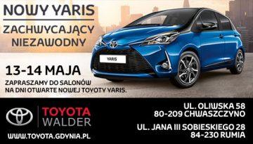 Dni otwarte nowego Yarisa w salonach Toyota Walder Chwaszczyno i Rumia